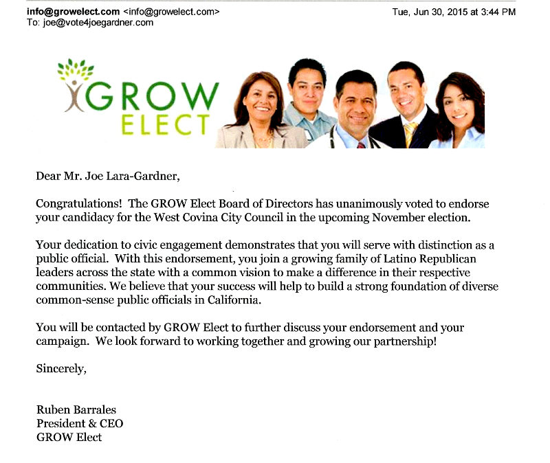 GROW Elect Endorsement